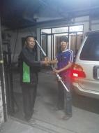 Penyerahan antena G6 1 kepada Rambo Yogyakarta
